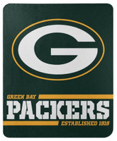 "Northwest NFL 50""x60"" Throw Blanket Football Split Wide - Green Bay Packers"