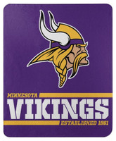 "Northwest NFL 50""x60"" Throw Blanket Football Split Wide - Minnesota Vikings"