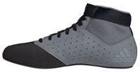 Adidas Men's Mat Hog 2.0 Wrestling Mat Shoe Ankle Strap Gray/Black