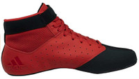 Adidas Men's Mat Hog 2.0 Wrestling Mat Shoe Ankle Strap Red/Black