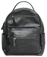 Rawlings Heritage Medium Genuine Leather Backpack Baseball Laptop Sleeve Black