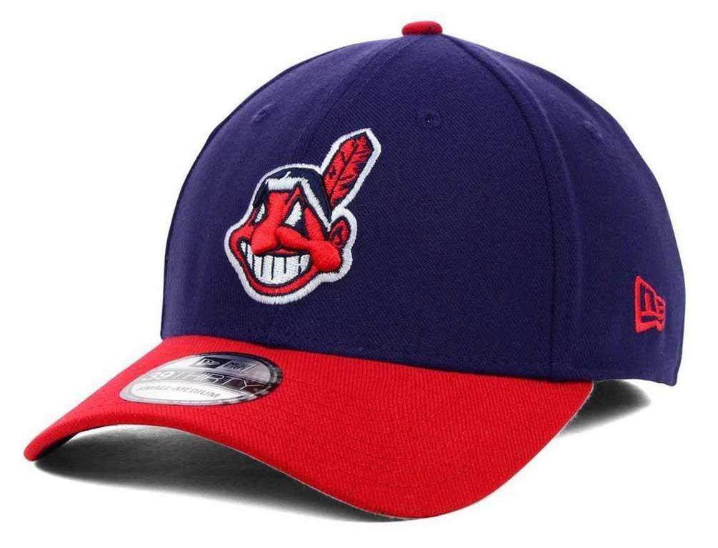 New Era MLB Cleveland Indians Team Classic 39Thirty Baseball Hat Cap 11126548