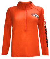 New Era Women's NFL Denver Broncos 1/4 Zip Athletic Jacket Sweatshirt 78051L