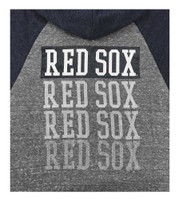 New Era Women MLB Boston Red Sox Glitter Logo Zip Hoodie Sweatshirt 7773L-HHQN
