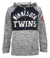New Era Women MLB Minnesota Twins Full Zip Hoodie Sweatshirt Pockets 78085L-NVNV