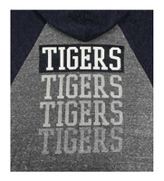 New Era Women MLB Detroit Tigers Glitter Logo Zip Hoodie Sweatshirt 7773L-HHQN