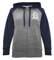 New Era Women MLB Detroit Tigers Glitter Logo Zip Hoodie Sweatshirt 7773L-HHQN