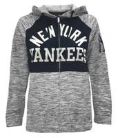 New Era Women MLB New York Yankees Full Zip Hoodie Sweatshirt Pocket 78085L-NVNV