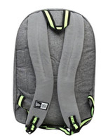 "New Era Cram Pack Mesh Backpack Hat Clip 17"" Laptop Matte Gray/Yellow 11212739"