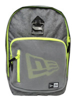 "New Era Cram Pack Mesh Backpack Hat Clip 17"" Laptop Matte Gray/Yellow 11212739"