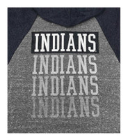 New Era Women MLB Cleveland Indians Glitter Logo Zip Hoodie Sweatshirt 7773L