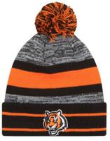 New Era 2019 NFL Cincinnati Bengals Cuff Pom Knit Hat Beanie Stocking Skull Cap
