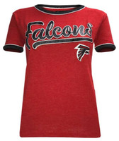 New Era Women's NFL Atlanta Falcons Crew Neck T-Shirt Short Sleeve Tee 70014L