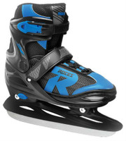 Roces Boys Jokey 2.0  Figure Ice Skate Superior Italian Adjustable Black/Blue