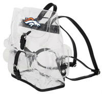 Northwest NFL Denver Broncos Lucia Clear Backpack Most Stadium Event Approved CO