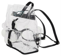Northwest NFL Philadelphia Eagles Lucia Clear Backpack Stadium Event Approved PA