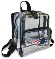 Northwest NFL New England Patriots Clear Stadium Approved Mini Backpack X-Ray