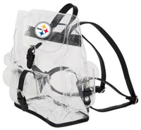 Northwest NFL Pittsburgh Steelers Lucia Clear Backpack Stadium Event Approved PA