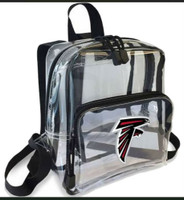 Northwest NFL Atlanta Falcons Clear Stadium Approved Mini Backpack X-Ray Style