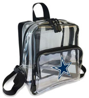 Northwest NFL Dallas Cowboys Clear Stadium Approved Mini Backpack X-Ray See-thru