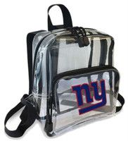 Northwest NFL New York Giants Clear Stadium Approved Mini Backpack X-Ray Style