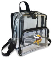 Northwest NFL Minnesota Vikings Clear Stadium Approved Mini Backpack X-Ray Style