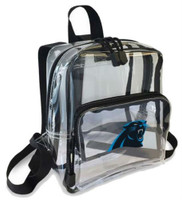Northwest NFL Carolina Panthers Clear Stadium Approved Mini Backpack X-Ray Style
