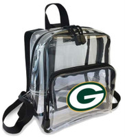 Northwest NFL Green Bay Packers Clear Stadium Approved Mini Backpack X-Ray Style