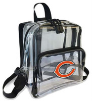 Northwest NFL Chicago Bears Clear Stadium Approved Mini Backpack X-Ray See-thru