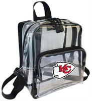 Northwest NFL Kansas City Chiefs Clear Stadium Approved Mini Backpack X-Ray