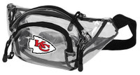 Northwest NFL Kansas City Chiefs Clear Transport Belt Bag Fanny Pack See-through