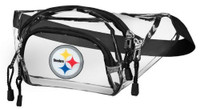 Northwest NFL Pittsburgh Steelers Clear Transport Belt Bag Fanny Pack See-thru