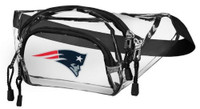 Northwest NFL New England Patriots Clear Transport Belt Bag Fanny Pack See-thru