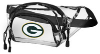 Northwest NFL Green Bay Packers Clear Transport Belt Bag Fanny Pack See-through