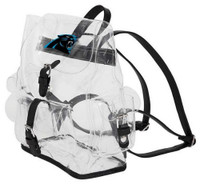 Northwest NFL Carolina Panthers Lucia Clear Backpack Stadium Event Approved NC