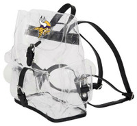 Northwest NFL Minnesota Vikings Lucia Clear Backpack Stadium Event Approved MN