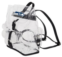 Northwest NFL Seattle Seahawks Lucia Clear Backpack Stadium Event Approved WA