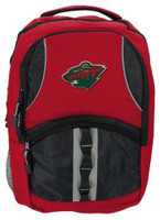 Northwest NHL Minnesota Wild Captain Backpack NHL Fan Padded Back Mesh Sides MN