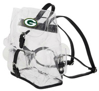 Northwest NFL Green Bay Packers Lucia Clear Backpack Stadium Event Approved WI