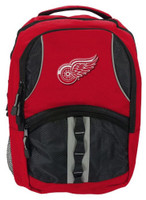 Northwest NHL Detroit Red Wings Captain Backpack NHL Fan Padded Back Mesh Sides