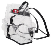 Northwest NFL San Francisco 49ers Lucia Clear Backpack Stadium Event Approved CA