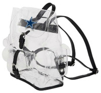 Northwest NFL Dallas Cowboys Lucia Clear Backpack Stadium Event Approved Texas