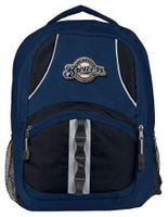 Northwest MLB Milwaukee Brewers Captain Backpack MLB Fan Padded Back Mesh Sides