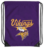 Northwest NFL Minnesota Vikings Team Spirit Back Sack Drawstring Sling Bag MN