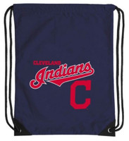 Northwest MLB Cleveland Indians Team Spirit Back Sack Drawstring Sling Bag Ohio