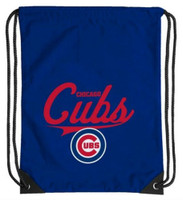 Northwest MLB Chicago Cubs Team Spirit Back Sack Drawstring Sling Bag Illinois