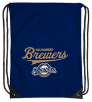 Northwest MLB Milwaukee Brewers Team Spirit Back Sack Drawstring Sling Bag WI