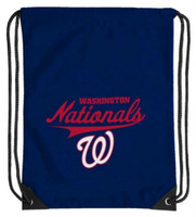 Northwest MLB Washington Nationals Team Spirit Back Sack Drawstring Sling Bag WA