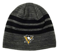 Adidas Mens NHL Pittsburgh Penguins Stocking Knit Hat Stripe Beanie Winter Ski