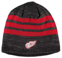 Adidas Mens NHL Detroit Red Wings Stocking Knit Hat Stripe Beanie Winter Ski Cap
